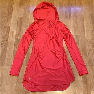 Pink Athleta lightweight long sleeve hoodie XXS